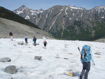 Поход ледника Laughton Стоковая Фотография RF