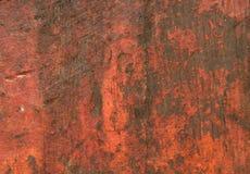 Поцарапанная красная деревенская деревянная текстура стоковая фотография