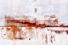 Поцарапанная ржавая металлическая пластина повреждения Стоковая Фотография