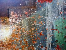 Поцарапанная старая ржавая предпосылка текстуры металла Grunge стоковое изображение rf