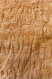 Поцарапанная стена грязи в Тоскане, Италии Стоковое Изображение RF