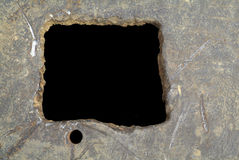 поцарапанное металлопластинчатое Стоковая Фотография