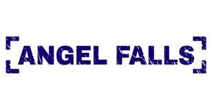Поцарапанное текстурированное уплотнение печати ANGEL FALLS между углами иллюстрация штока