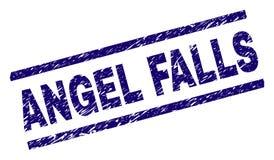 Поцарапанное текстурированное уплотнение печати ANGEL FALLS бесплатная иллюстрация