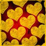 поцарапанные сердца grunge иллюстрация вектора