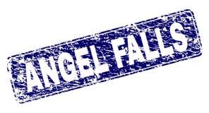 Поцарапанный обрамленный ANGEL FALLS округленный штемпель прямоугольника иллюстрация штока