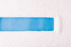 Поцарапанный снег на окне Стоковые Фото