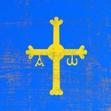 Поцарапанный флаг Астурии иллюстрация штока