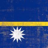 Поцарапанный флаг Науру бесплатная иллюстрация
