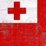 Поцарапанный флаг Тонги иллюстрация штока