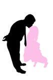 поцелуи папаа стоковое изображение rf