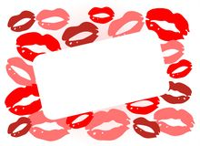 поцелуи рамки Стоковые Фото