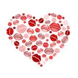 поцелуи сердца Стоковые Фото
