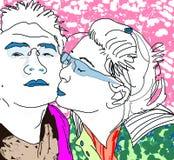 Поцелуи Стоковая Фотография