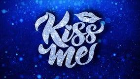 Поцелуйте меня голубой текст желает приветствия частиц, приглашение, предпосылку торжества