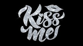 Поцелуйте меня моргать приветствия частиц желаний текста, приглашение, предпосылка торжества