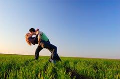 поцелуй поля Стоковое Изображение RF
