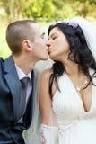 Поцелуй groom и невесты Стоковое Фото