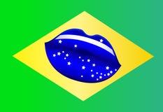 Поцелуй Бразилия Стоковое Изображение