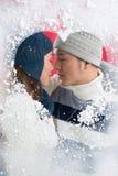Поцелуй зимы стоковая фотография