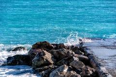 Поцелуй 2 моря Стоковая Фотография RF