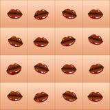 Поцелуй шоколада картины вектора иллюстрация штока