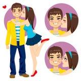 Поцелуй любовников пар молодой иллюстрация вектора