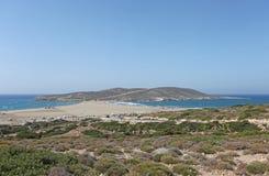 Поцелуй Prassonisi до 2 моря Остров Родос, Греция Стоковые Фотографии RF