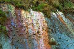 Почва глины, смешанная глина, скала моря стоковые фотографии rf
