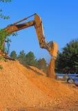 Почва движения землечерпалки Стоковое Изображение RF