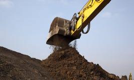 почва землечерпалки рукоятки moving Стоковое фото RF