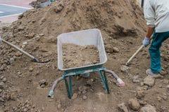 Почва и подготовка сайта для лужаек Стоковые Изображения