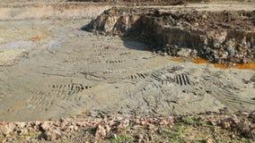 Почва раскопк для строя жилого дома Стоковая Фотография RF