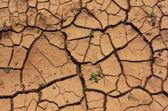 Почва - треснутая сухая земля - текстуры Стоковые Фотографии RF