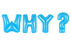 Почему, вопрос, голубой цвет Стоковые Изображения RF
