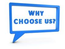 Почему выберите нас Стоковая Фотография RF