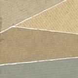 Почерки сбора винограда на сорванных утилях бумаг Стоковое фото RF