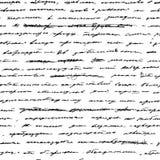 почерк вектор предпосылки безшовный иллюстрация вектора