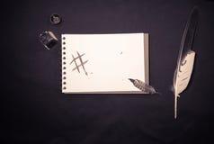 Почерк с чернилами и пером и цифровое сочинительство подписывают hashtag Стоковое Фото