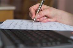 почерк формул Стоковое фото RF
