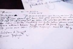 почерк Стоковые Изображения RF