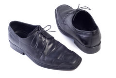 почерните ботинки Стоковое Изображение RF