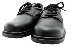 почерните ботинки Стоковое Фото