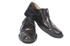 почерните ботинки Стоковые Изображения RF