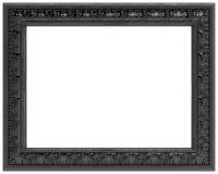 почерните высеканную изолированную рамкой белизну зеркала Стоковые Фото