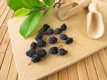 почерните высушенные chokeberries стоковые фотографии rf