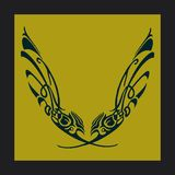 почерните желтый цвет Стоковые Изображения RF