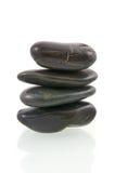 почерните камни стога массажа Стоковая Фотография RF
