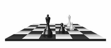 почерните ответную часть потери highlight игры конца шахмат проверки дела доски monochrome метафоры над успехом стратегии принима Стоковое Изображение RF