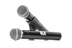 почерните радиотелеграф микрофона Стоковые Изображения RF